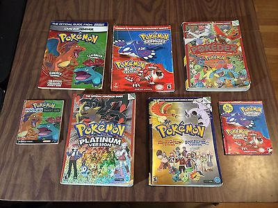 Pokemon GUIDE LOT -Firered Leafgreen Pocket +Ruby Sapphire +Heartgold+Soulsilver