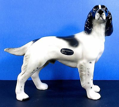 COOPERCRAFT, ENGLISH SETTER, Large, Hand Painted, with Original Label, Excellent