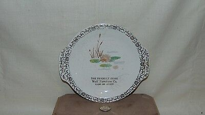 "Vintage 7"" Century By Salem Advertising Plate Wolf Furniture Co"