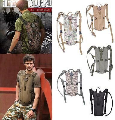 3L Army Outdoor Water Bladder Bag Hydration Backpack Pack Hiking Camping Cycling