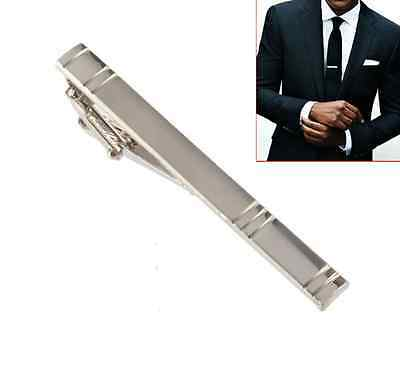 Fashion Simple Formal Men's Alloy Metal Necktie Tie Clasp Bar Pin Clip Silver AU