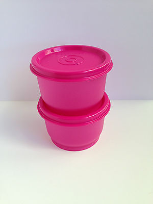 Tupperware Snack Cups - Set of 2 - Pink - Brand New - Very Handy!!