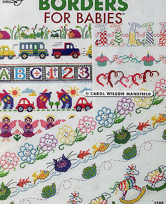 Cross Stitch Pattern -  Borders For Babies Guardian Angels Cupcakes Frogs