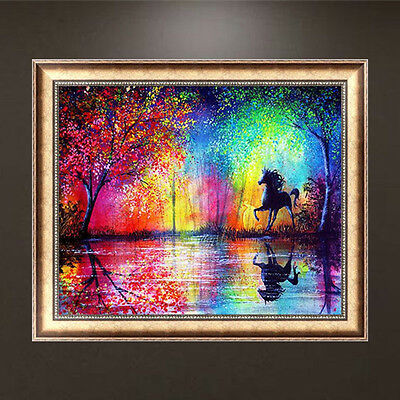 DIY 5D Horse Diamond Embroidery Painting Cross Stitch Kits Home Wall Decor