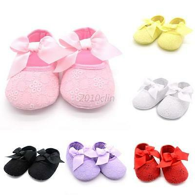 Newborn Baby Girl Christening Shoes Soft Sole Crib Shoes Anti-slip Party Shoes