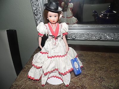 """Vintage Marin Spanish Collector Doll Tag 11"""" with Stand. Has tag. Ref 7023."""