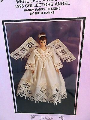 Hanky Panky WHITE LACE ANGEL 1995 Collectors Angel Hardanger Pattern