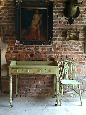 Stunning Antique Desk Writing Table Washstand Regency 19th Century Painted