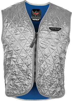 FLY STREET Motorcycle Hydration Cooling Vest Silver - Size Small-3XL