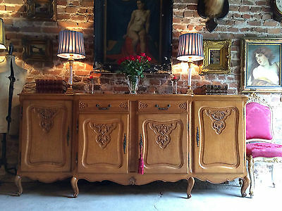 Fabulous French Antique Style Sideboard Credenza Dresser Oak Carved Very Large 1