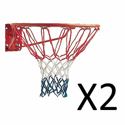 """Champion Red White Blue American USA Replacement Basketball Net 21"""" 4mm (2-Pack)"""