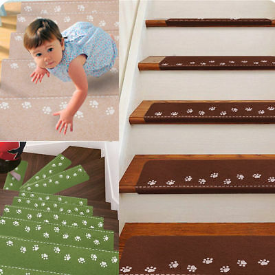 Stair Carpet Pad Rubber Self Adhesive Anti-Skid Treads Mat Light Dark Luminous