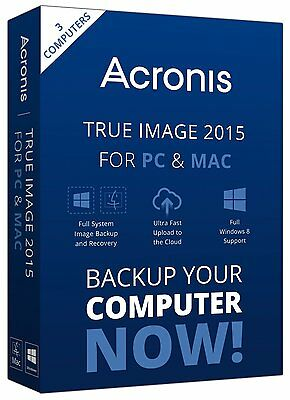 Acronis True Image HD 2015 System Image Backup Recovery Software (PC)(Code Only)