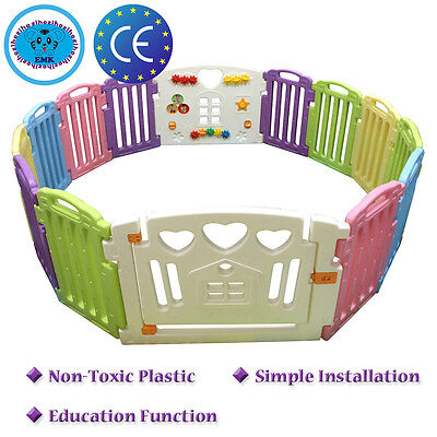 Non-Toxic Plastic Baby Playpen Mixed Colors Play Pen With Education Functions UK