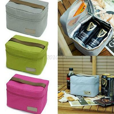 Cool Bag School Picnic Lunch Box Insulated Small Thermal Cooler Storage Box Tote