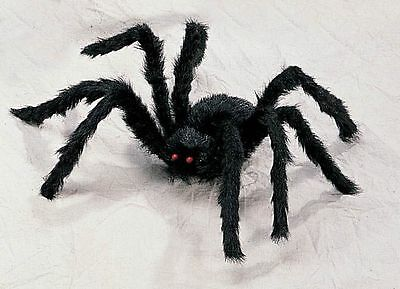 2' Foot Black Hairy Spider Huge Giant Halloween Haunt Prop Decoration