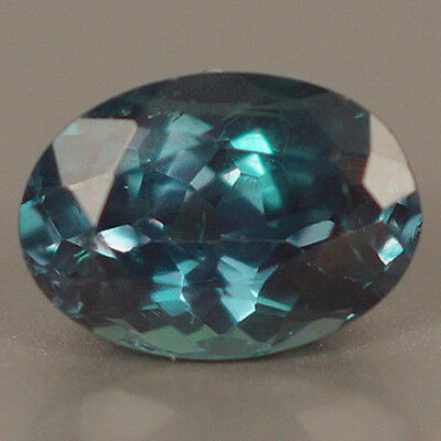 Aigs Certified 0.69Ct Strong Color Change! Natural Dark Bluish Green Alexandrite