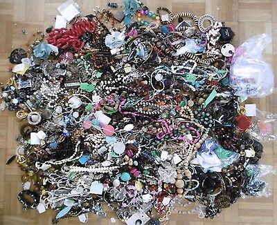10Kg Job Lot Of Assorted Costume Jewellery Necklaces - Ideal For Art And Crafts