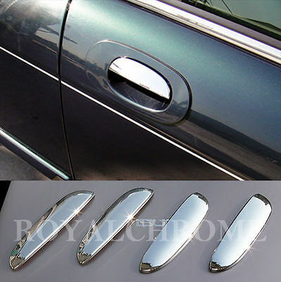 x4 Door Handle Cover Trims PREMIUM ROYAL CHROME for JAGUAR XJ X300 X308 95-02