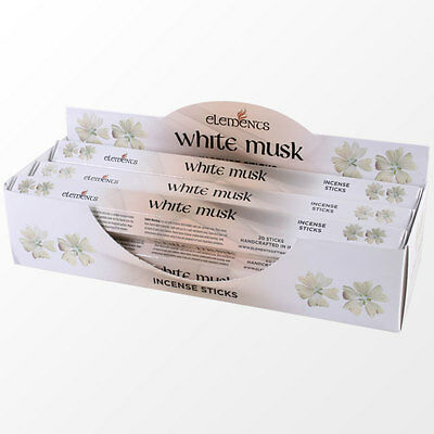 New Elements White Musk Incense Joss sticks. 20 sticks, 1 pack.