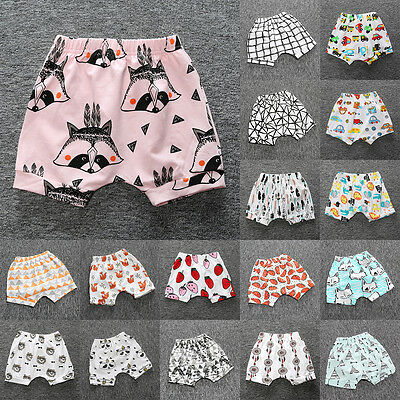 Toddler Kids Short Harem Pants Shorts Baby Infant Trousers Summer Cute Bottoms