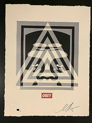 Shepard Fairey: Pyramid Top Icon Letterpress – Signed and Numbered Print
