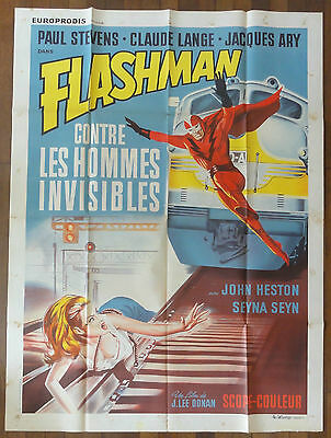 Affiche Cinéma FLASHMAN CONTRE LES HOMMES INVISIBLES. Cinema Movie Poster.