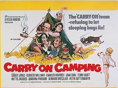 "Carry On Camping 16"" x 12"" Reproduction Movie Poster Photograph"