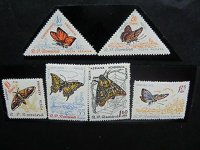 1960 - Romania - Butterflies, Monumentes Of Nature, MNH