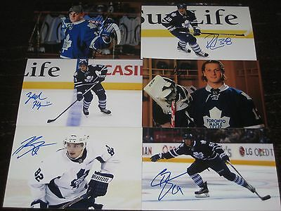 lot of 12 autographed TORONTO MAPLE LEAFS 4x6 photos w/ ZACH HYMAN CONNOR BROWN