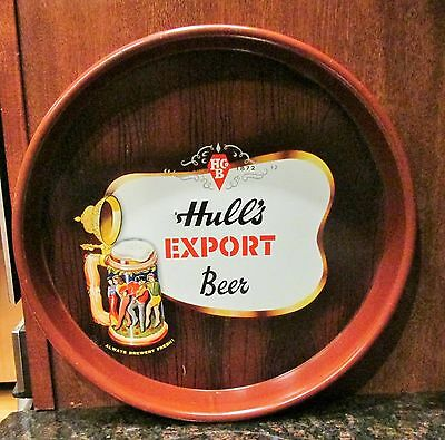 Vintage Hull's Export Beer Tray, Hull's Brewery, New Haven, Ct Man Cave!