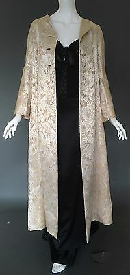ERLEBACHER VNTG BROCADE Opera/Evening Coat_GATSBY_Art Deco_20s vibe_60s_36-38_S