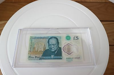 New £5 AA01 010027  Ultra Low Number Mint Condition