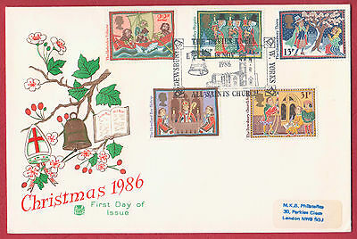 Great Britain FDC - 1986 Christmas Devil's Knell, Dewsbury p/mark 18 NOV 1986