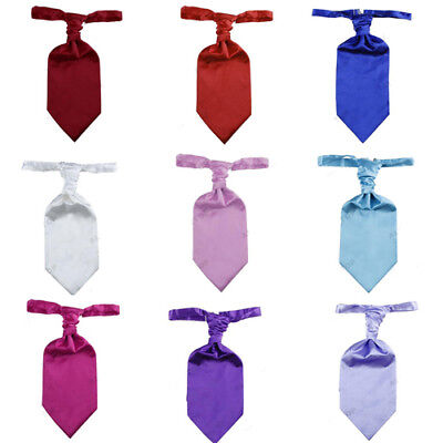 2017 Mens Scrunch Pre-Tied Ruche Tie Cravat Various Colours Groom Kilt