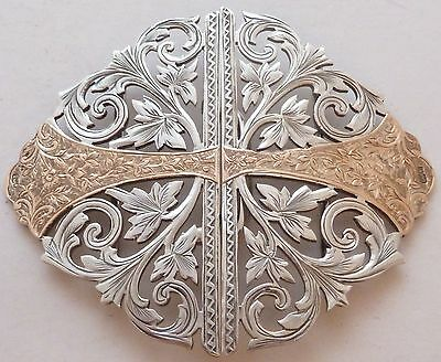 William Hair Haseler Solid Silver & 9ct Gold Nurses Belt Buckle Liberty 1901