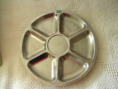 A Large Lundtoffte, Denmark Lazy Susan Stainless Steel Dish