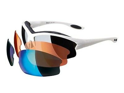 crivit sport changable lenses sunglasses with hard case white