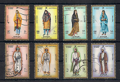 Muscat & Oman: 1989 SC. 322 / 329: Costumes, fine used