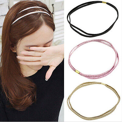 Women Girl Lady Fashion Elastic Headband Head Piece Hair Band Jewelry