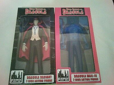 NEW Bela Lugosi as Dracula 7 inch action figure 1998 Figures Toy Co. Set of 2