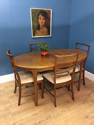 Mid century vintage retro 1960s teak McIntosh extending dining table & 6 chairs