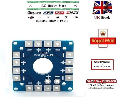 ESC PCB Connection Power Battery Distribution Board CRIUS V 1.0 2016 Blue UK