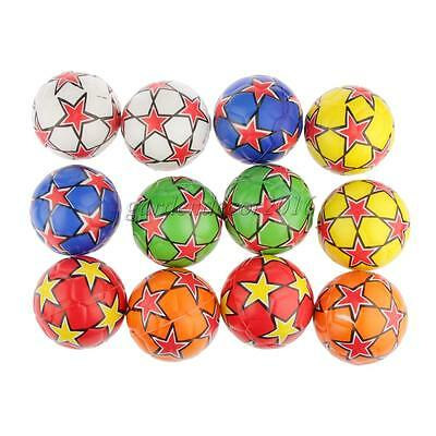 12pcs Colorful Star Paint PU Sponge Ball Stress Reliever Party Squeeze Toy