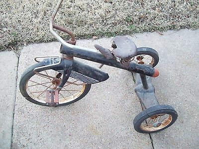 Vintage AMF Black  Rocket Tricycle Junior Trike Junior Toy Corp Hammond Ind USA