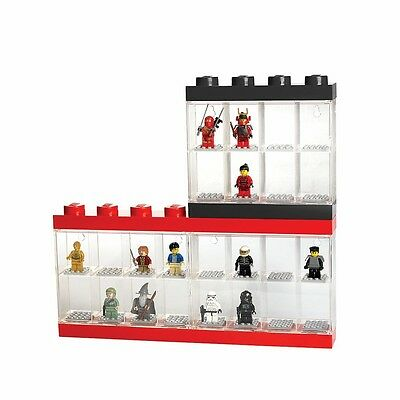 Lego Minifigure Display Cases - Holds Sixteen Figures - Red