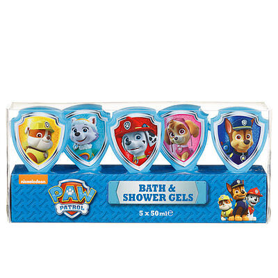 New Kids Children Paw Patrol Bubble Bath Set 5 x 50ml  For NEW YEAR GIFT SET