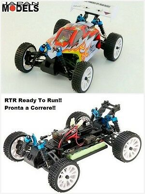 Rk Radiokontrol Hsp Electric Micro Buggy TROIAN RED  RTR 4WD 1/16 Automodello Rc