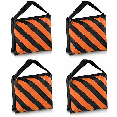 Neewer? Set of Four Black/Orange Heavy Duty Sand Bag Photography Studio Video