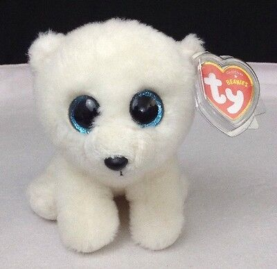 "NEW w/ Tags TY Beanie Babies Arctic Polar Bear 6"" Stuffed Collectible Plush Toy"
